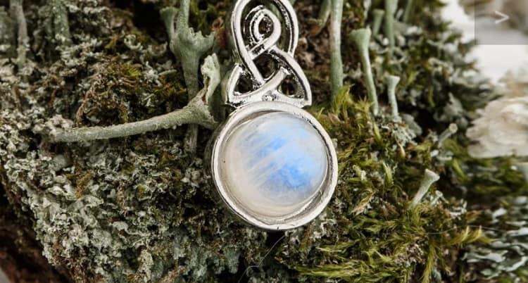 Celtic Knot Moonstone Necklace