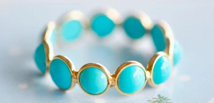 Sleeping Beauty Turquoise Eternity Ring