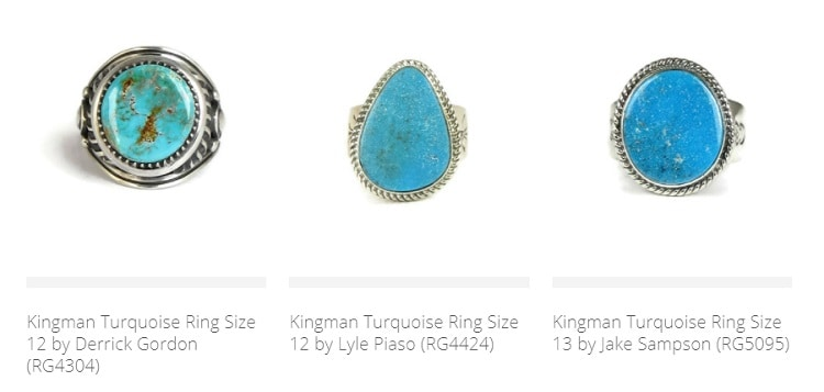 Southwest Silver Gallery Turquoise Rings