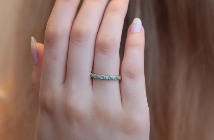 Turquoise Simple Band Ring