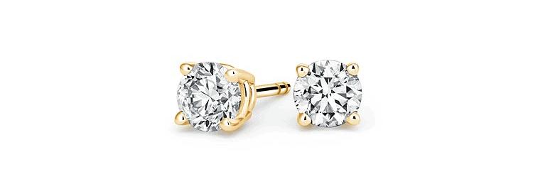 Lab-Created Diamond Stud Earrings