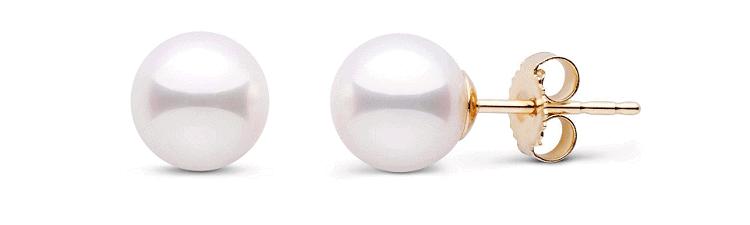 White Akoya AAA Pearl Stud Earrings